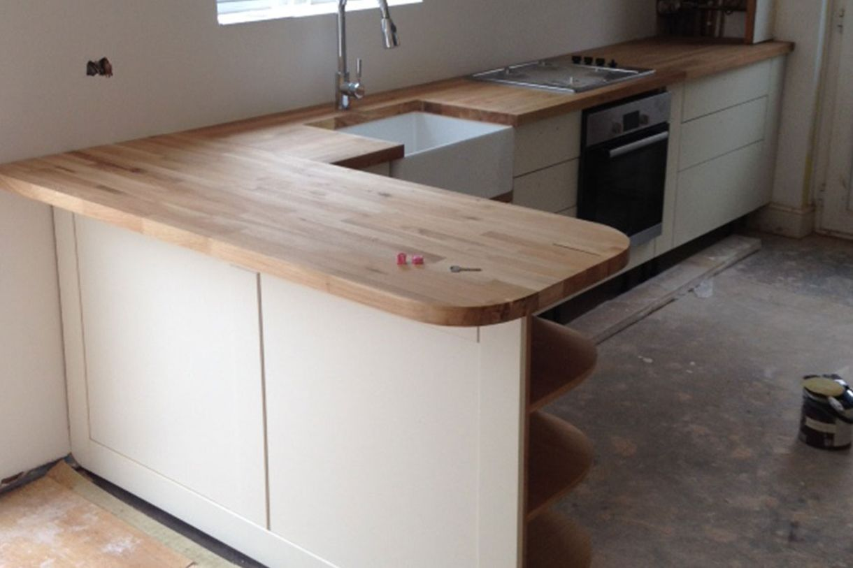 Bespoke made to measure fitted kitchen worktops